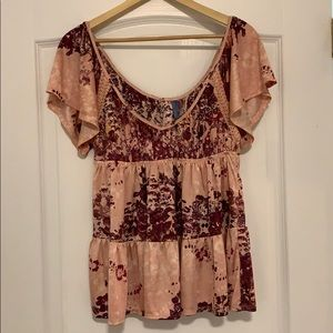 Free People pink blouse- XS